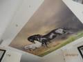 Художествен опънат таван с фотопечат - Коне